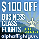 Save $100 on Business Class Flight