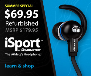 iSport - The Athlete's Headphone - $99.95 Refurbished - Original MSRP $179.95 - Learn & Shop
