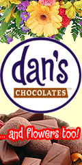 Send Fresh Dan's Chocolates along with Fresh Flowers