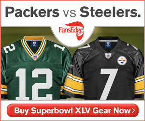 Buy Packers and Steelers Superbowl XLV Gear