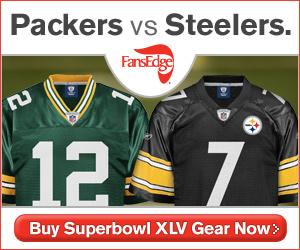 Buy Packers and Steelers Superbowl XLV Gear