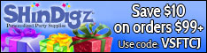 FREE Shipping on Party Supplies at Shindigz