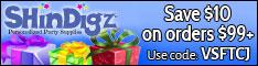 FREE Shipping on Party Supplies at Shindigz