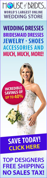 Designer Wedding Dresses ship FREE - 0% sales tax!
