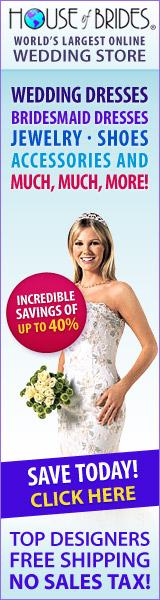 Designer Wedding Dresses ship FREE                                        - 0% sales tax!