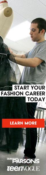 Parsons & Teen Vogue 160x600 banner - Guy