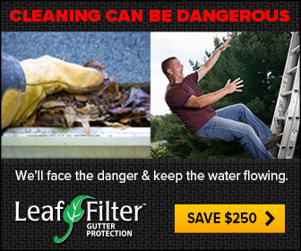 Gutter Cleaning is Dangerous - Let LeafFilter worry about it!