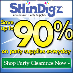 Save up to 90% in the Shindigz Outlet Store