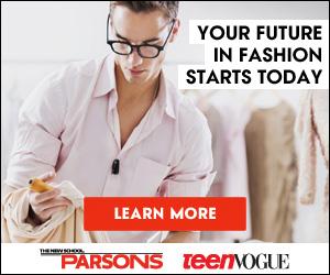 Parsons & Teen Vogue 300x250 banner - Guy