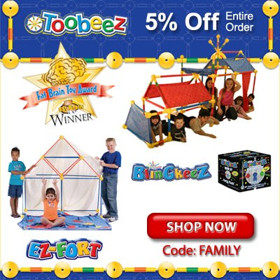 Toobeez Fat Brain Award! 5% Off Entire Order!