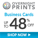 Shop OvernightPrints.com now and save up to 48% on Business Cards!