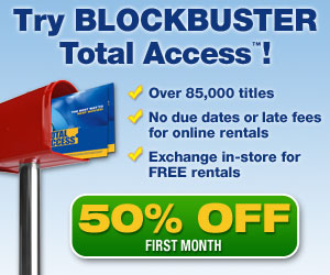 Blockbuster Total Access, 50% Off the First Month