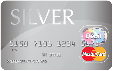 Silver Prepaid MasterCard card