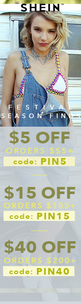 Enjoy $40 off orders $200+ with coupon code PIN40 at us.SheIn.com! Ends 3/27