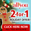 ALL YOU 2-For-1 Holiday Offer 125x125