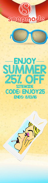 Snapmade 2016 - Enjoy Summer 25% OFF Sitewide - 160*600