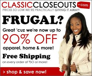 90% Off General - Classic Closouts
