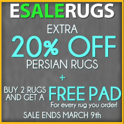 $50 Amazon Card + 20% Off Oriental Rugs