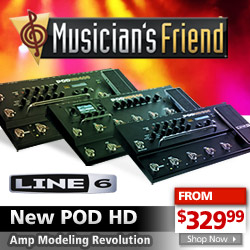 New Line 6 POD HD at MusiciansFriend.com