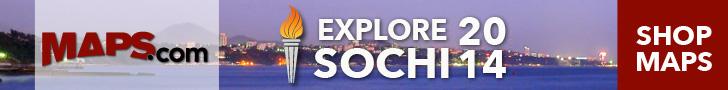 Explore Sochi 2014 with Maps.com