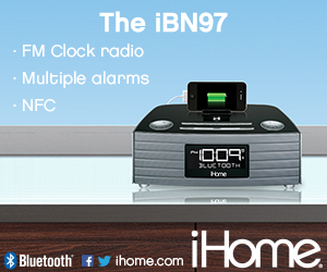 300x250Static iBN97 NFC Bluetooth Stereo FM Clock Radio
