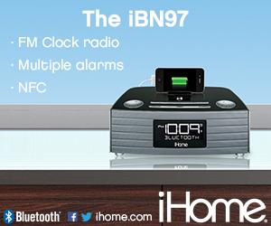 300x250Static iBN97 NFC Bluetooth Stereo FM Clock Radio