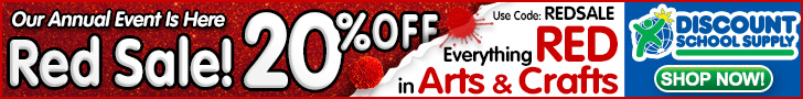 Save 20% Off Everything Red in Arts & Crafts During Our Annual Red Sale