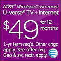 At&T Broadband: TV, Internet and Home phone from $89/mo for 2 years + Upto $200 back Promotional Cards