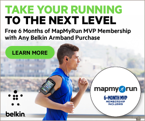 Gift With Purchase: MapMyRun MVP Membership with Any Belkin Armband 300x250