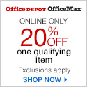 20% off one regularly priced item. Exclusions Apply. Online Only. Use Code: 20OFFODOMX14