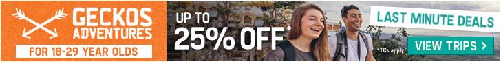 20% Off Africa Trips - Geckos Adventures 728