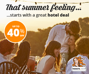Check out Venere's Summer Sale! Up to 40% off hotels this summer!