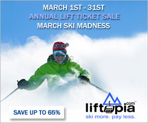 Huge lift ticket discounts at Liftopia.com