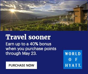 hyatt points purchase bonus