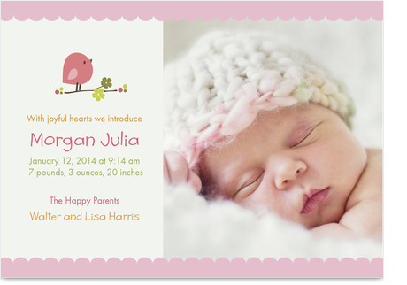 Sample up to 3 Birth Announcements for FREE at Cardstore.com! Use coupon code CAK2963