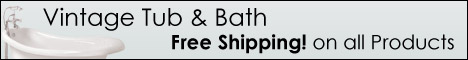 Free Shipping from Vintage Tub & Bath!