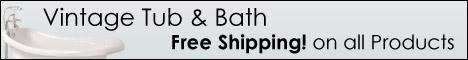 Free Shipping from Vintage Tub & Bath!