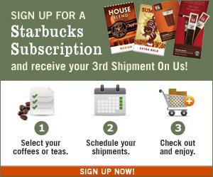 Starbucks Coffee Tour Free 3rd Shipment