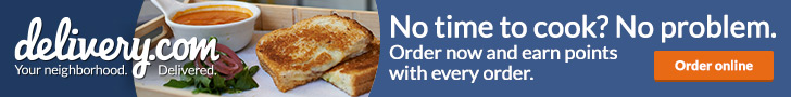 Hungry? Order online at delivery.com