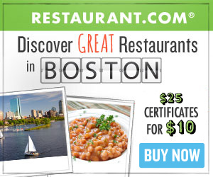 Boston - Most $25 Gift Certificates for $10