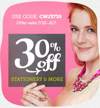 30% off Announcements, Invitations, Save-the-Date Cards, Stationery, and Thank You cards at Cardsto