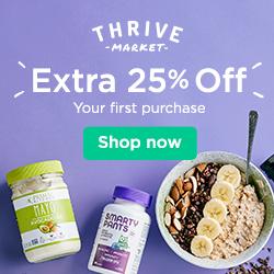 Thrive Market 25% off banner