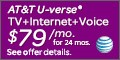 U-verse Triple Play $89 - Offer