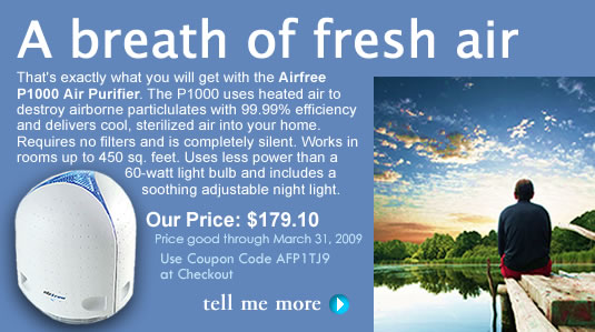Discount on Airfree Air Purifiers!