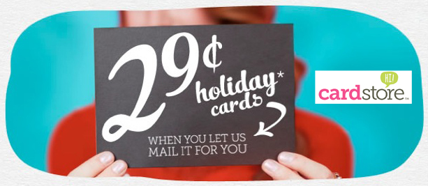 ONE DAY ONLY - 11/16! 29¢ Holiday Cards + Free Shipping when you let us mail it for you!