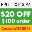 Fruit of the Loom $20 off