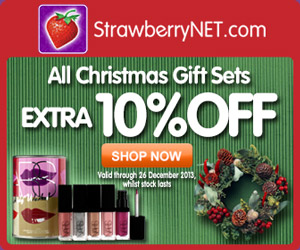 Extra 10% OFF All Christmas Gift Sets at strawberryNET.com!