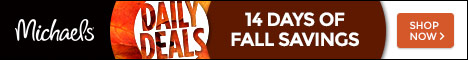 14 Days of Fall Savings: Daily Deals