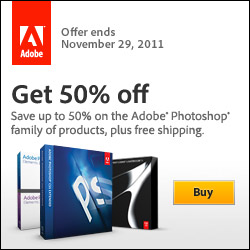 50% off Adobe Photoshop Products