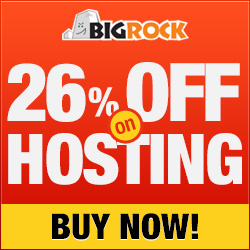 January Coupon for BigRock Hosting & Domain Names